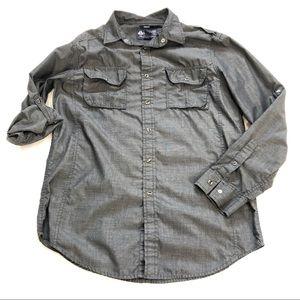 American Rag Long-Sleeved Button Down Dark Grey M